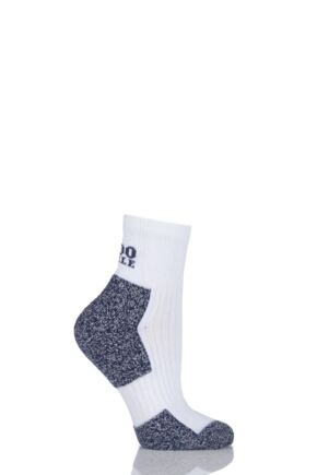 Ladies 1 Pair 1000 Mile Ultra Performance Cupron Sports Socks White 3-5.5
