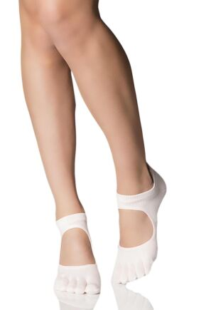 Ladies 1 Pair ToeSox Prima Full Toe Open Foot Dance Ballet Socks