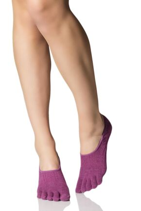 Ladies 1 Pair ToeSox Full Toe Dash Low Rise Socks