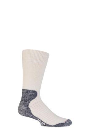 Mens 1 Pair 1000 Mile Wool Ultra Cricket Socks White  M