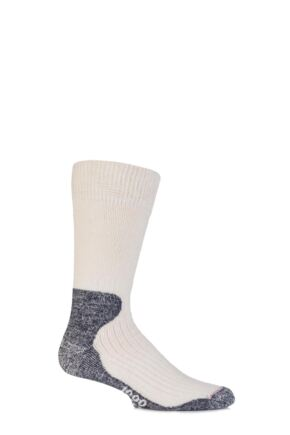 Mens 1 Pair 1000 Mile Wool Ultra Cricket Socks White  L