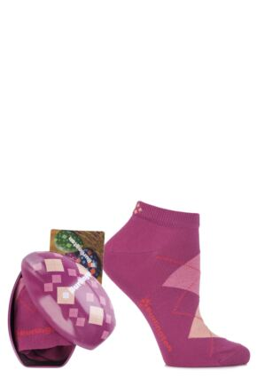 Ladies 1 Pair Burlington Easter Egg Gift Boxed Sneaker Socks Pink 36-41