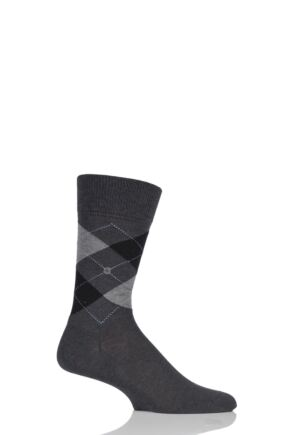 Mens 1 Pair Burlington Manchester Argyle Cotton Socks Grey 46-50
