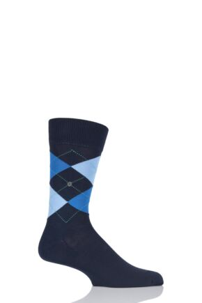 Mens 1 Pair Burlington Manchester Argyle Cotton Socks Marine 40-46