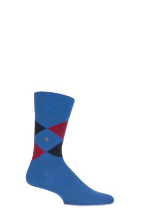 Mens 1 Pair Burlington Norfolk Cotton Mix Argyle Socks