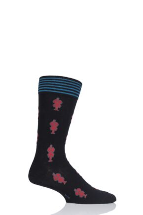 Mens 1 Pair Burlington Lobster Cotton Socks