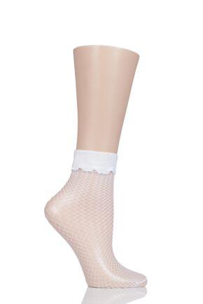 Ladies 1 Pair Burlington Net Fishnet Shorts Socks