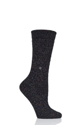 Ladies 1 Pair Burlington Lurex Boot Socks