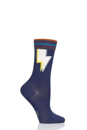 Ladies 1 Pair Burlington Lightning Cotton Socks