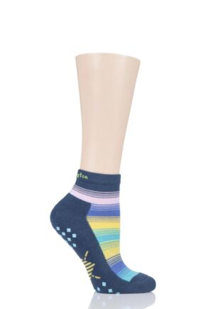 Ladies 1 Pair Burlington Studio Girl Sports Trainer Socks with Grips