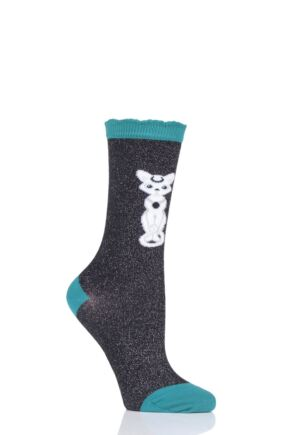 Ladies 1 Pair Burlington Luna Cat Socks