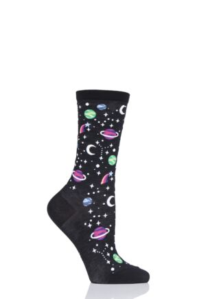 Ladies 1 Pair Burlington Galaxy Space Cotton Socks