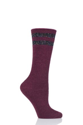 Ladies 1 Pair Burlington Spellbound Boot Socks