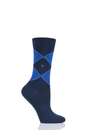 Ladies 1 Pair Burlington Organic Cotton Argyle Socks