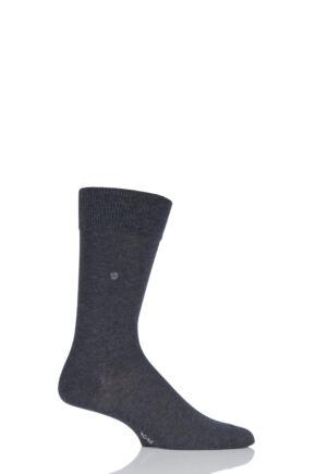 Mens 1 Pair Burlington Lord Plain Cotton Socks