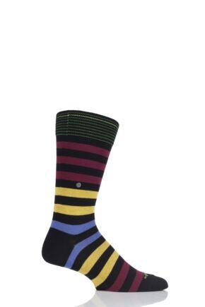 Burlington Blackpool Multi Striped Cotton Socks