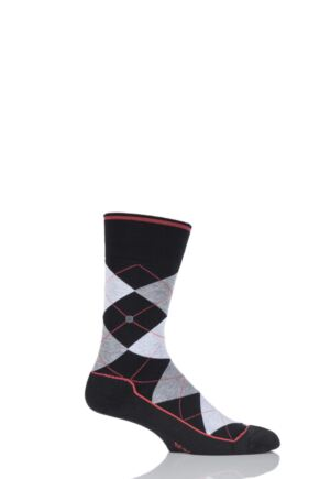 Mens 1 Pair Burlington Dorset Cotton Golf Argyle Socks