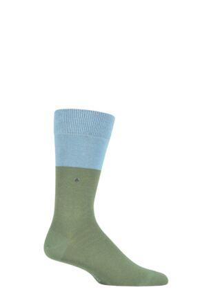 Mens 1 Pair Burlington Organic Cotton Block Socks