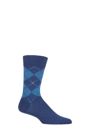 Mens 1 Pair Burlington Organic Cotton Bolton Argyle Socks