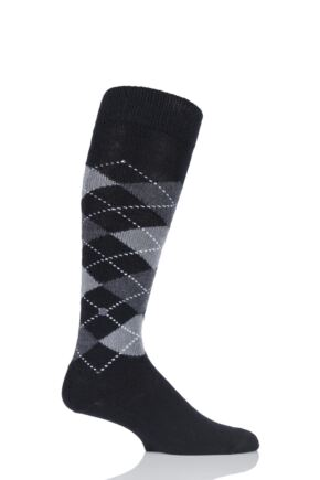 Mens 1 Pair Burlington Preston Soft Acrylic Knee High Socks