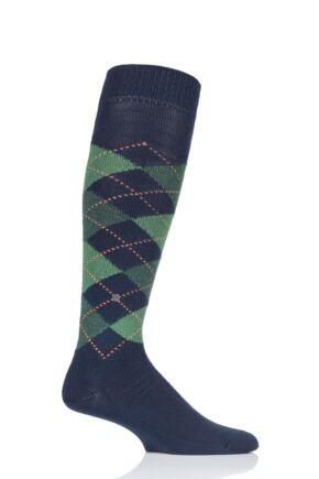 Mens 1 Pair Burlington Preston Soft Acrylic Knee High Socks