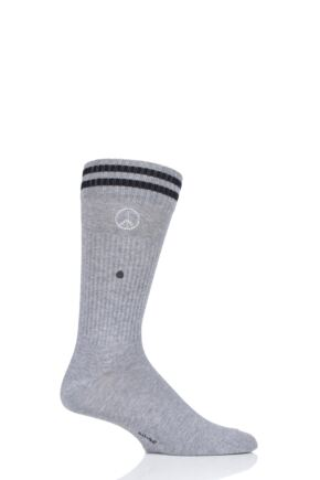 Mens 1 Pair Burlington Peace Man Cotton Socks