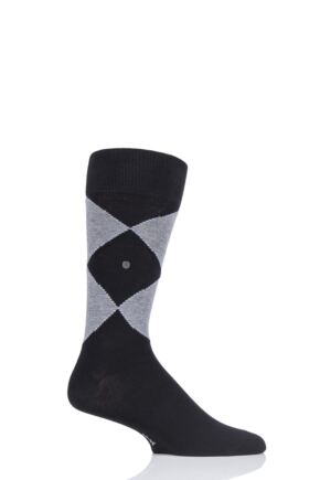 Mens 1 Pair Burlington Organic Cotton Argyle Socks