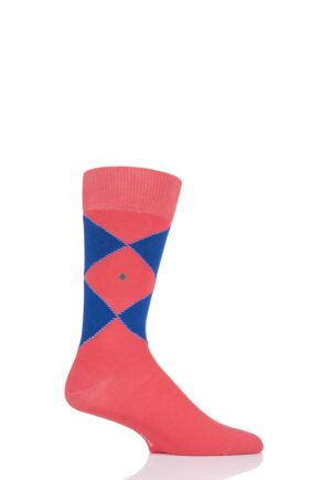 Mens 1 Pair Burlington Organic Cotton Argyle Socks