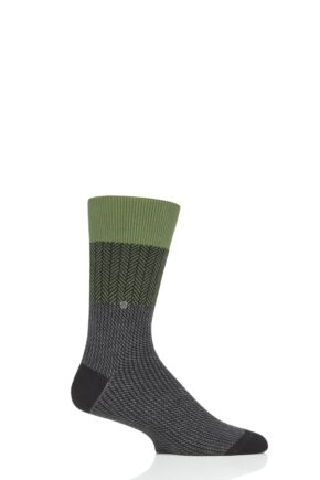 Mens 1 Pair Burlington Herringbone Multi Socks
