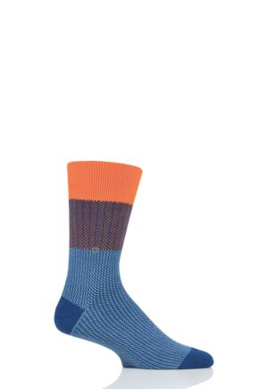 Mens 1 Pair Burlington Herringbone Multi Socks