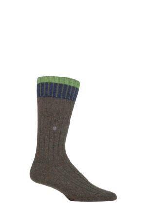 Mens 1 Pair Burlington Crafted Wool Boot Socks