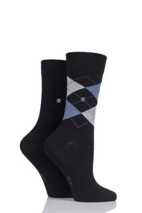 Burlington Everyday Mix Plain and Argyle Cotton Socks