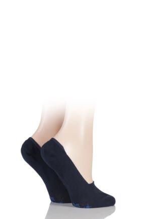 Ladies 2 Pair Burlington Everyday Invisible Cotton Shoe Liners