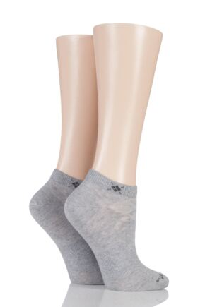 Ladies 2 Pair Burlington Everyday Cotton Trainer Socks
