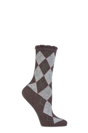 Ladies 1 Pair Burlington Ladywell Diamond Socks