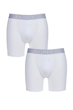 Mens Jockey 3D Innovation Boxer Trunks 2 PAIRS FOR THE PRICE OF 1