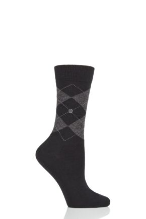 Ladies 1 Pair Burlington Marylebone Lurex Virgin Wool Socks