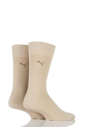 Mens 2 Pair Puma Everyday Classic Cotton Socks Safari 12-14