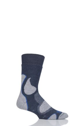 Mens and Ladies 1 Pair 1000 Mile 3 Seasons Merino Wool Walking Socks Slate 12-14 Mens