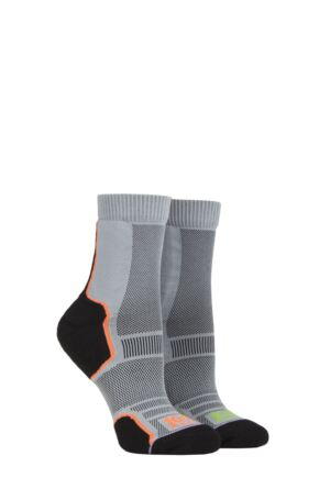 Mens and Ladies 2 Pair 1000 Mile Trail Sock Dark Grey XL