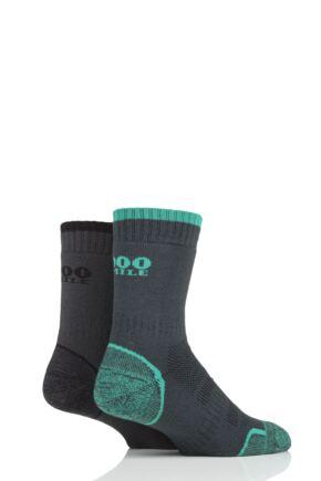 Mens and Ladies 2 Pair 1000 Mile Single Layer Walking Socks