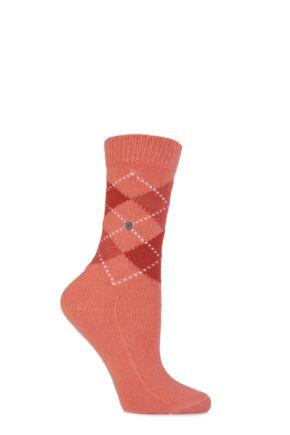 Ladies 1 Pair Burlington Whitby Extra Soft Argyle Socks Vergeben 36-41
