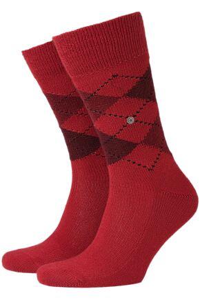 Mens 1 Pair Burlington Preston Extra Soft Feeling Argyle Sock In 21 Colours