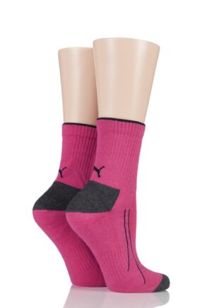 Mens and Ladies 2 Pair Puma Performance All Sport Crew Socks with Coolmax
