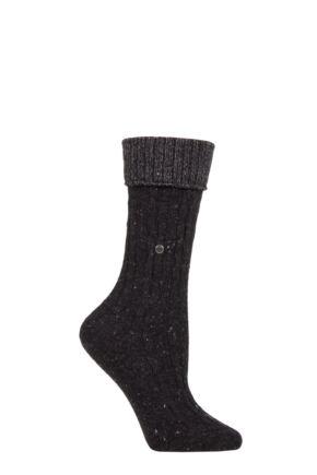 Ladies 1 Pair Burlington Cosy Wool Turn Over Top Boot Socks