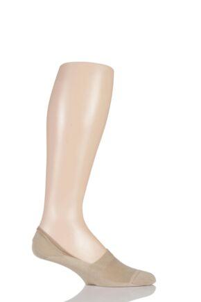 Mens 1 Pair Pantherella Cotton Shoe Liners Light Khaki 10-12