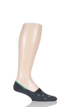 Mens 1 Pair Pantherella Spot Egyptian Cotton Shoe Liners