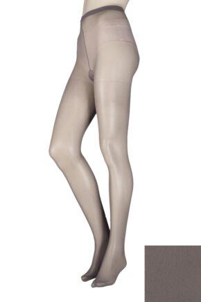 Ladies 1 Pair Elle Tights 30 Denier 100% Nylon Mid grey