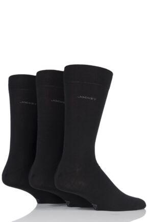 Mens 3 Pair Jockey Plain Business Cotton Socks