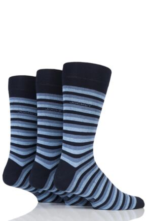 Mens 3 Pair Jockey Casual Stripe Cotton Socks